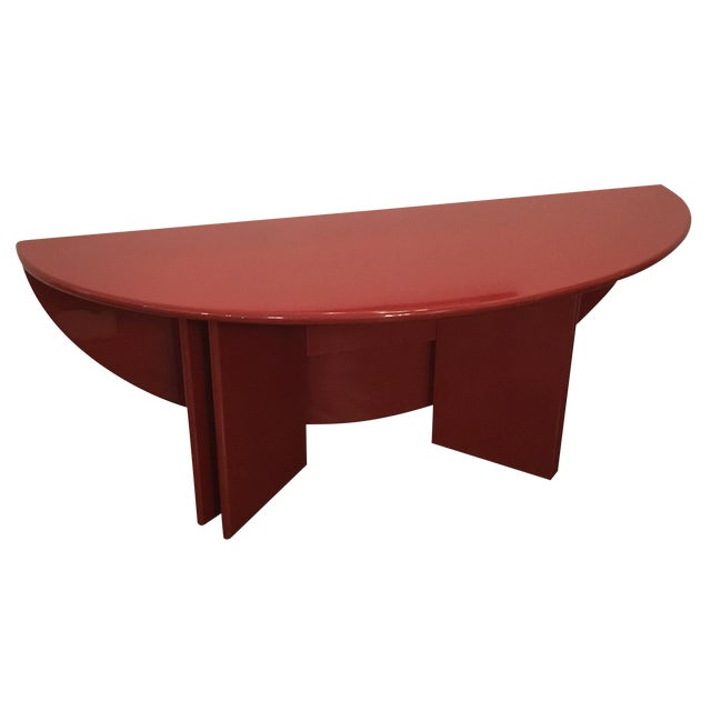 "Kazuhide Takahama Red Lacquered ""Antella"" Folding Console - Image 1 of 7"