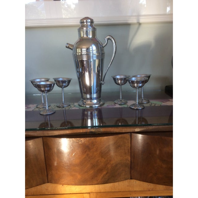 Image of Chrome Plated Stainless Steel 1950's Cocktail Set