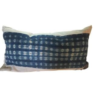 Rustic Indigo Fragment Lumbar Pillow