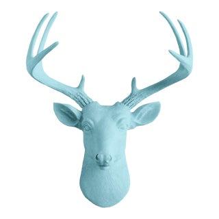Wall Charmers Pool Blue Faux Deer Head