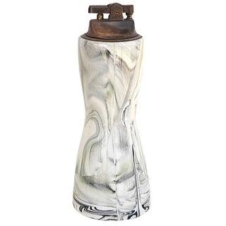 Mid-Century Modern Marbleised Ceramic Table Lighter