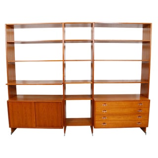 Hans Wegner for Ry Mobler Teak 2-3 Bay Teak Wall Unit