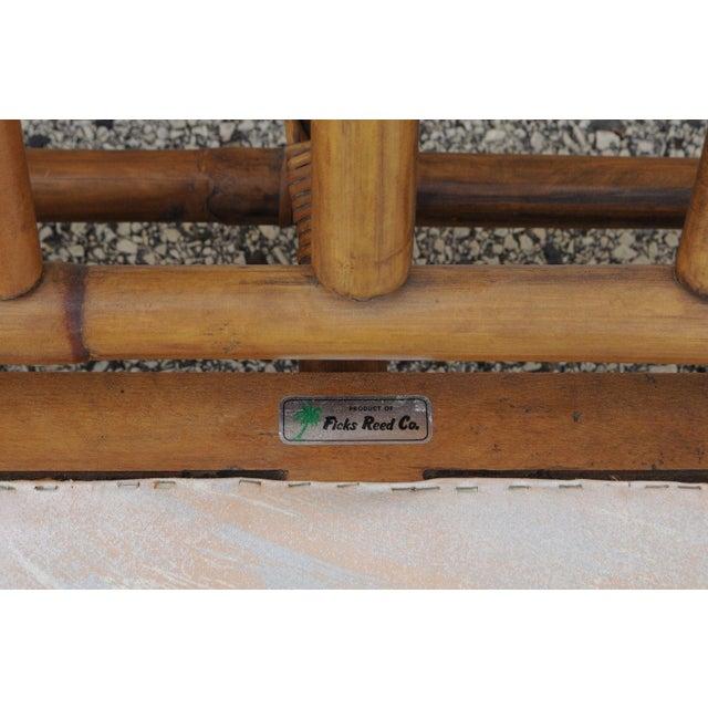 Mid Century Ficks Reed Rattan Tiki Sofa Set - Set of 5 - Image 10 of 11