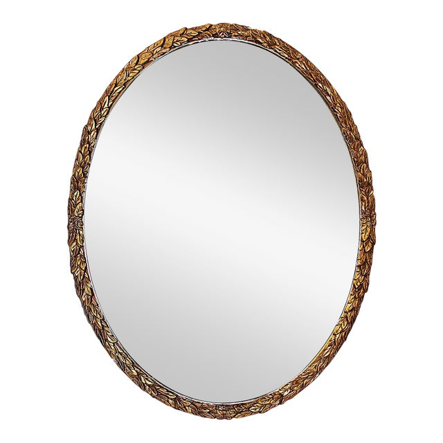 Oval Gilt Wood Mirror - Image 1 of 8
