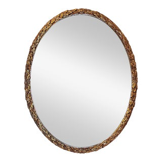 Oval Gilt Wood Mirror