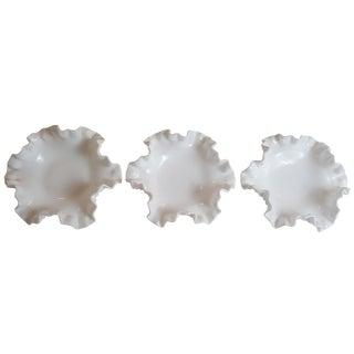 Hobnail Bon Bon Bowls - Set of 3