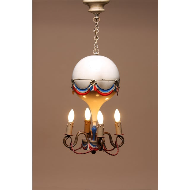 1950's French Hot-Air Balloon Chandelier - Image 2 of 5