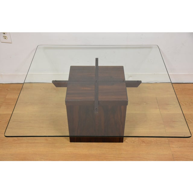 Mid-Century Rosewood & Glass Danish Coffee Table - Image 2 of 10