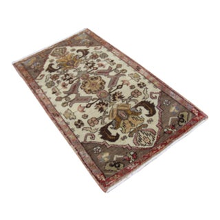 Antique Tribal Oushak Hand Knotted Turkish Rug - 1′7″ × 2′10″