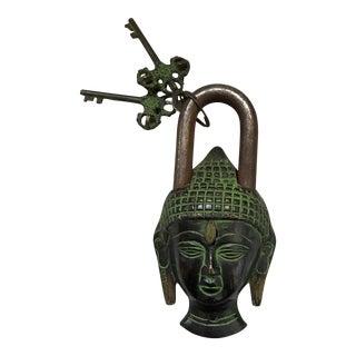 Tibetan Buddha Head Bronze Mystery Lock