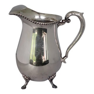 Elegant Silver Plate Water Pitcher