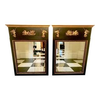 1920s Palladio Empire Trumeau Mirrors - A Pair