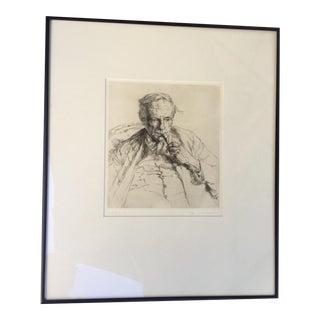 Vintage Original Portrait of George Moore by Freeth