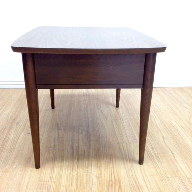 Mid-Century Woven Front & Formica End Table - Image 5 of 7