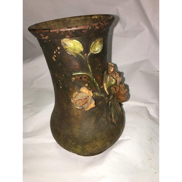Ceramic Rose Motif Vase - Image 3 of 8