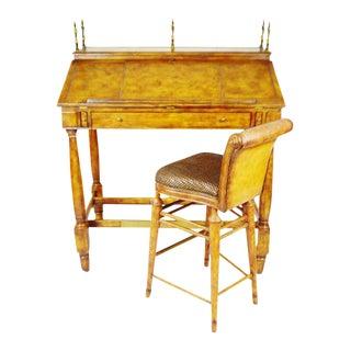 Vintage Thomasville Ernest Hemingway Desk & Chair Set
