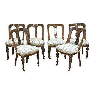 Regency Style Mahogany Dining Chairs - Set of 6