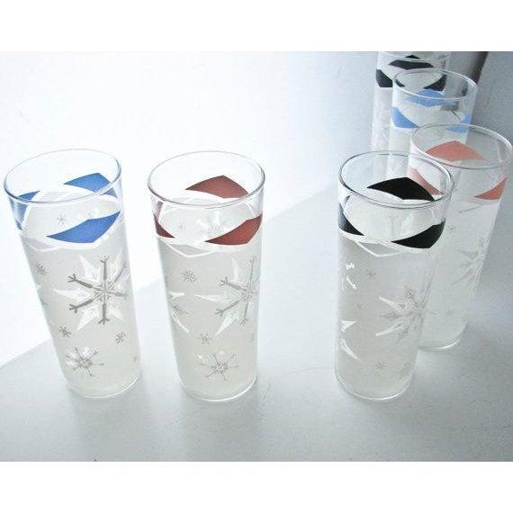 Mid-Century Snowflake Drinking Glasses - 6 - Image 3 of 6