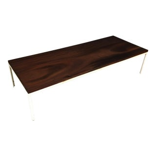 Mid Century Walnut Coffee Table with Metal Frame