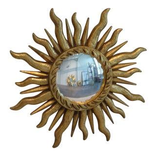 Gilded Sunburst Convex Mirror