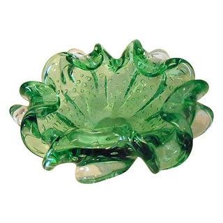 Green Murano Glass Dish