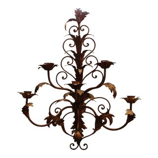 Italian Acanthus Leaf Candle Wall Sconce