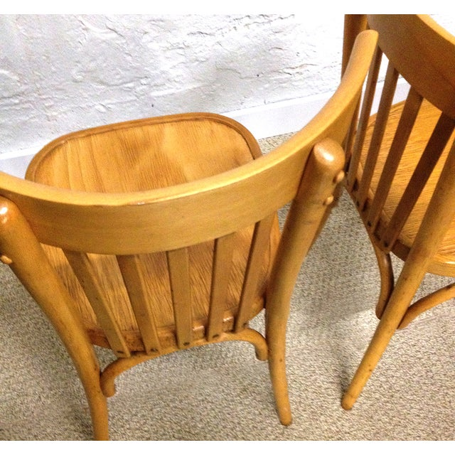 Vintage Bentwood Slat Back Chairs - A Pair - Image 5 of 5