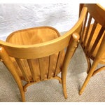 Image of Vintage Bentwood Slat Back Chairs - A Pair