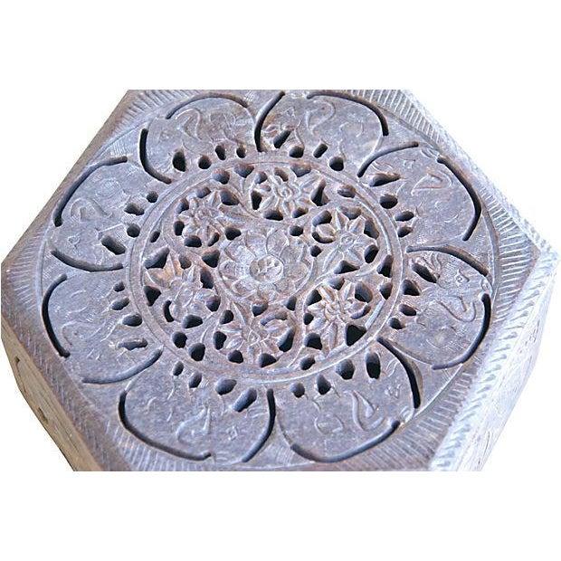 Carved Soapstone Box w/Elephant Motif - Image 2 of 5