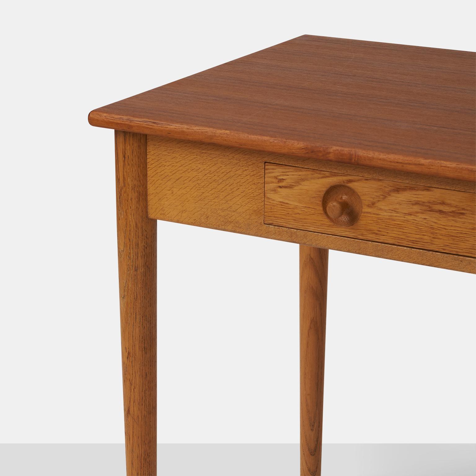 Hans Wegner Teak U0026 Oak Writing Desk   Image 7 ...