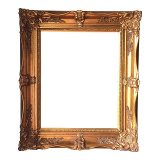 Rococo Acanthus Leaf Detailed Gilded Wooden Frame