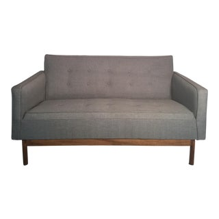 Modern Gray Upholstered Sofa