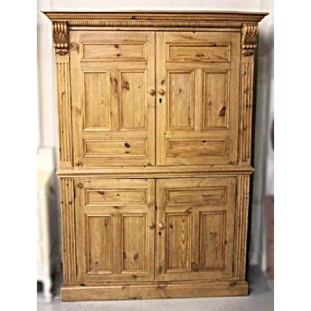 Image of Antique Dutch Pine Armoire