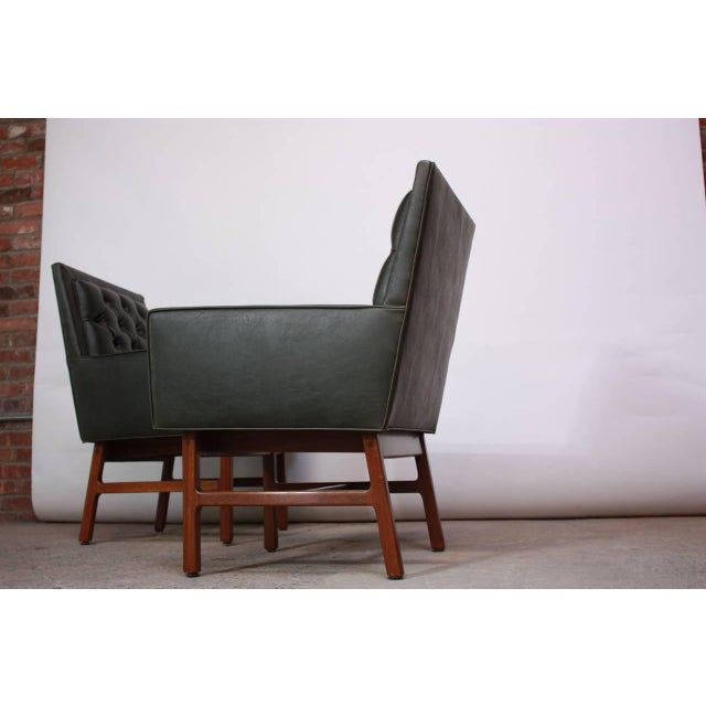 Pair of Milo Baughman for Thayer Coggin Walnut Armchairs - Image 6 of 9