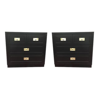 Black Bachelor's Chests or Nightstands - A Pair