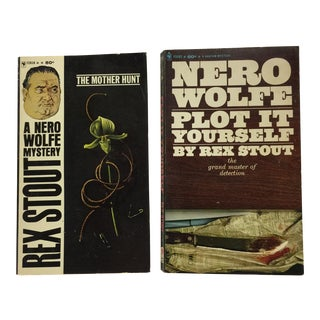 Nero Wolfe Bantam Mysteries Books - Pair