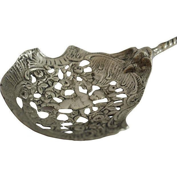 Silver Cherub Fork & Spoon Serving Set - A Pair - Image 3 of 4