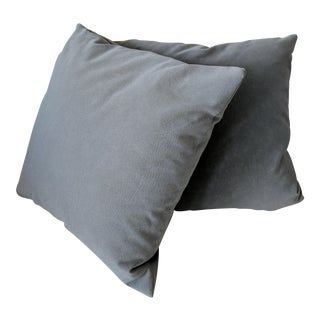 Signoria Firenze Slate Gray Decorative Pillows - A Pair