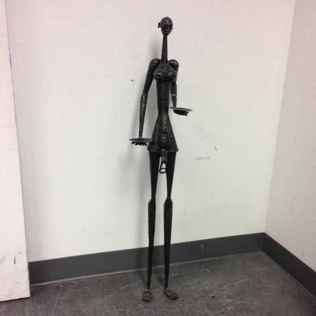 Image of Metal Woman Sculpture From Francis Otieno