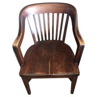 Vintage Wooden Library Chair