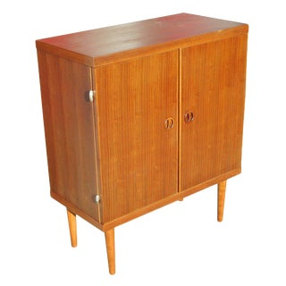 Danish Modern Rose Stained Cabinet