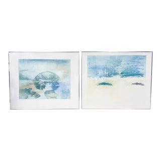 British Listed Artist Donald Wilkinson Landscape Prints - A Pair