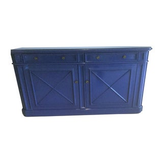 Contemporary Blue Buffet Credenza
