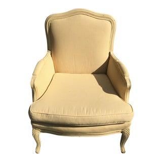 Yellow Mini Checked Louis Arm Chair