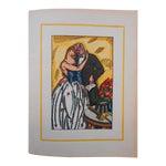 "Image of Vintage Ltd. Ed. Hand Colored Image By Guy Arnoux""Les Femmes De Ce Temps""-L'Interessee- Self Interest-France-1920"