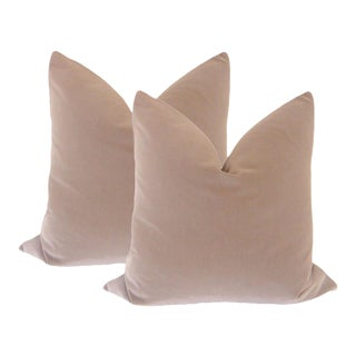 "22"" Mauve Velvet Pillows - A Pair"