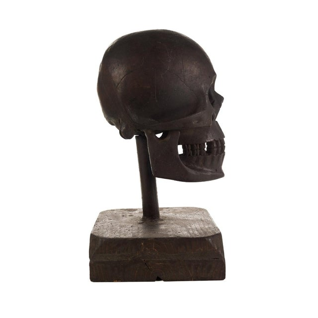 19th Century Hand Carved Wooden Skull - Image 7 of 9
