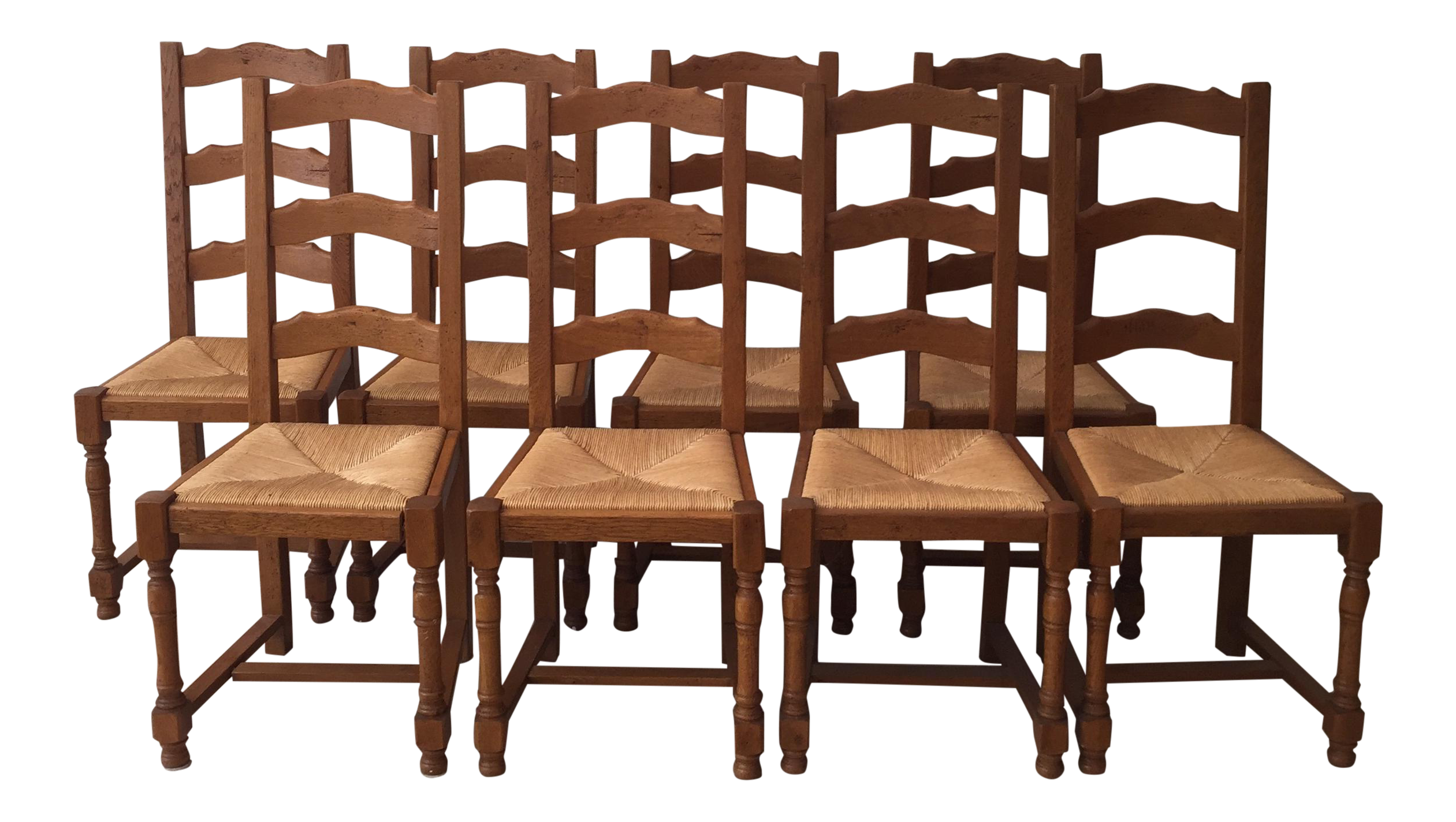 French Ladder Back Chairs   Set Of 8