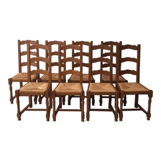 French Ladder Back Chairs - Set of 8