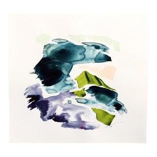 "Beth Winterburn Original Abstract - ""Swimming in the Rain."""
